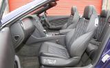 Bentley Continental GTC front seats