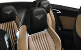 Bentley Continental GTC rear seats