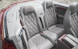 Bentley Continental GT Speed convertible rear seats