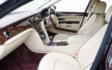 Bentley Mulsanne's front seats