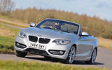 BMW 220d convertible is pacy compared to its direct diesel convertible rivals