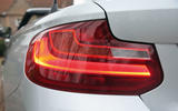 The L-shaped rear lights are a familiar BMW styling feature and is on the 2 Series convertible