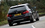 BMW 330d Touring rear cornering