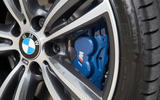 BMW 330e blue brake calipers