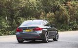 BMW 330e rear cornering