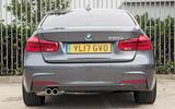 BMW 330e rear end