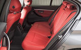 BMW 330e rear seats