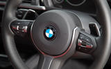 BMW 330e steering wheel