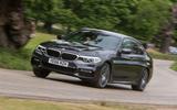 BMW 5 Series cornering