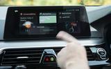 BMW 5 Series touchscreen display