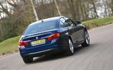 BMW 5 Series rear cornering