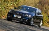 BMW 5 Series Touring cornering