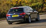 BMW 5 Series Touring rear cornering