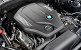 BMW 5-series engine bay