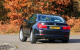 BMW 7 Series rear cornering