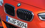 BMW M135i's kidney grille
