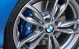 BMW M135i blue brake calipers