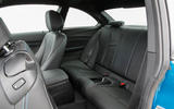 BMW M2 rear seats