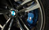 Blue BMW M2 brake calipers