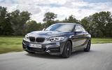 BMW M240i cornering