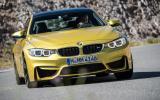 BMW M4 cornering hard