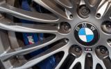 BMW M5 blue brake calipers