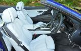 BMW M6 Convertible's front seats