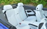 BMW M6 Convertible's rear seats