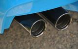 BMW M6 chrome quad exhaust
