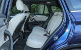 Rear seating in the BMW X1