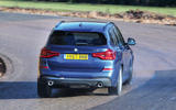 BMW X3 rear cornering