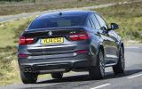 BMW X4 hard cornering