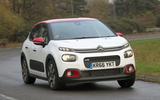 Citroën C3 hard cornering