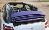 Citroen DS3 DSport Cabrio roof down