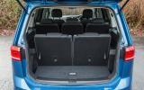 Volkswagen Touran rear seats up