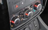 Dacia Duster climate controls