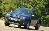 Dacia Duster cornering
