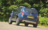 Dacia Duster rear cornering