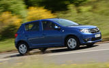 Dacia Sandero cornering