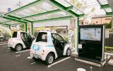 Toyota i-Road recharging bay