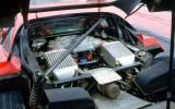 Ferrari F40 V8 engine bay