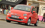 Fiat 500 review hero front