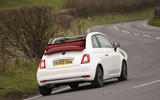 Fiat 500C cornering
