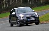Fiat 500L cornering