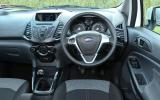 The driver's seat of the Ford EcoSport