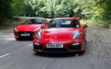 Comparison: Porsche Cayman GTS versus Jaguar F-type coupe