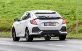 Honda Civic rear cornering
