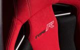 Honda Civic Type R seat badging
