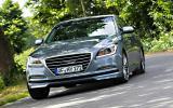Hyundai Genesis cornering