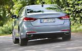 Hyundai Genesis rear cornering